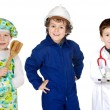 Future generation of workers — Stock Photo