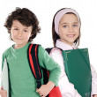 Two students returning to school — Stock Photo #9628548