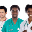 Team of young doctors — Stock Photo
