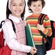 Couple of children students — Stock Photo
