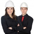 Two young engineers — Stock Photo #9628673