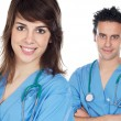 Stock Photo: Couple of young doctors