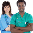 Couple of young doctors — Stock Photo #9628715