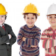 Adorable engineering team — Stock Photo