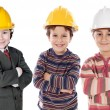 Stock Photo: Adorable engineering team