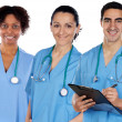 Multi-ethnic medical team — Stock Photo