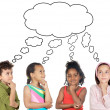 Multiethnic group of children thinking — Stockfoto #9628765