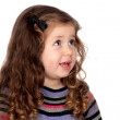 Adorable baby girl talking — Stock Photo #9628929