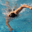 Stock Photo: Swimmer in swimming pool