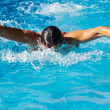 Stock Photo: Swimmer in a swimming pool