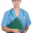 Attractive medicine student - Stock Photo