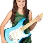 Adorable girl whit electric guitar — Stock Photo #9629438