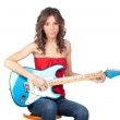 Beautiful girl with a electric guitar — Stock Photo #9629731