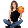 Royalty-Free Stock Photo: Attractive girl with a basket ball