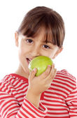 Girl eating an apple — Stok fotoğraf