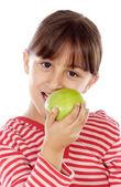 Elma yiyen kız — Stok fotoğraf