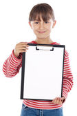 Student with notepad — Stock Photo