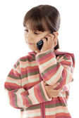 Casual girl talking on the cellphone — Stock Photo