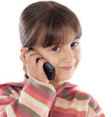 Casual girl talking on the cellphone — Stockfoto