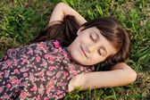 Girl relaxed — Stock Photo