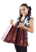 Shopping young girl — Stock Photo