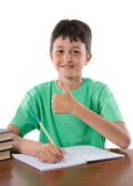Student boy saying OK — Stock Photo