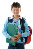 Back to school. Pretty student boy — Stock Photo