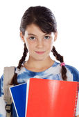 Adorable jeune fille étudiant — Photo