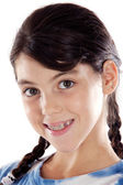 Adorable girl with braces — Stock Photo