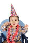 Adorable boy celebrating your birthday — Stock Photo