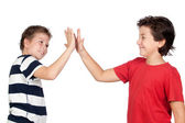 Two funny children — Stock Photo