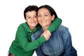 çok güzel anne ve onun güzel bir oğlan — Stok fotoğraf