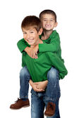 Two funny brothers — Stock Photo