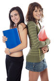 Two attractive students — Stock Photo