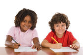Kids studding together — Stock Photo