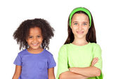 Adorable girls of different races — Stock Photo