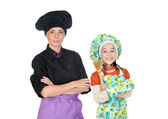 Family of cooks — Foto de Stock