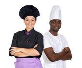 Teamwork of chefs — Stock Photo