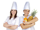 Couple of cook woman — Stock Photo