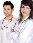 Couple of doctors — Foto Stock