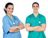 Small group of young doctors — Stock Photo