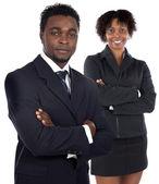 Couple of young executives — Stock Photo