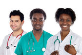 Team of young doctors — Foto de Stock