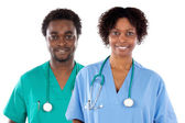 Couple of African American doctors — Stock Photo