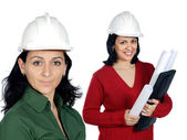 Team of women architects — Stock Photo