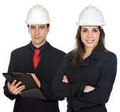 Couple of engineers — Stock Photo