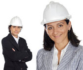 Two young engineers — Stock Photo