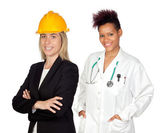 Couple of woman workers — Stock Photo