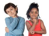 Adorable children thinking — Stock Photo