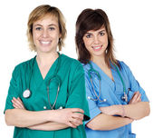 Two young women doctors — Stock Photo